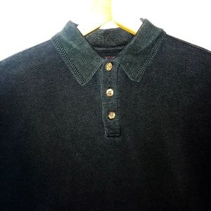 Tommy Bahama Silk/Cotton Polo Shirt Size Med